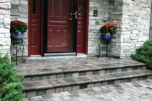 Paver Front Entries