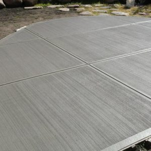 Broom Finish Concrete Driveway Denver